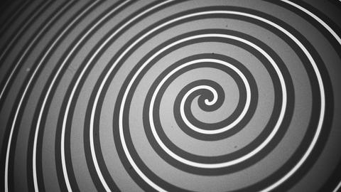 Vintage Black and White Circus Spiral Motion Background Animation