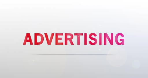 Advertising. Particle Logo. Red Text Animation Animation