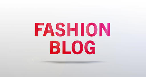 Fashion blog. Particle Logo. Red Text Animation Animation