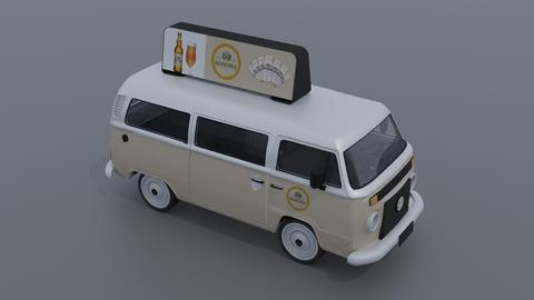 Vw kombi 3D Model