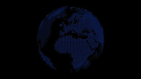 Dots Earth-blue Videos animados