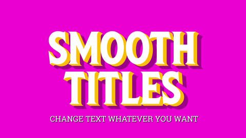 Smooth Titles Motion Graphics Template