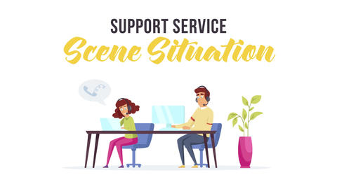 Support service - Scene Situation After Effects Template