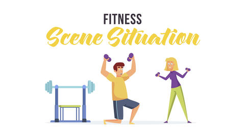 Fitness - Scene Situation After Effects Template