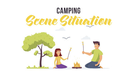 Camping - Scene Situation After Effects Template