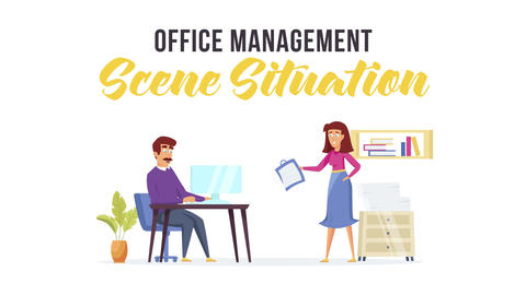 Office management - Scene Situation After Effects Template