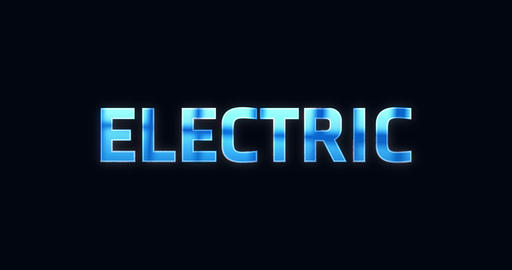 Electric. Lightning word. Text Animation Animation