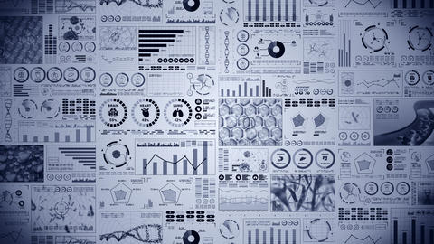 Modern medical health care concept. Futuristic examination with health indicators. Graph, Diagram, Animation