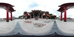 360VR video at Longfeng Temple exterior Live Action