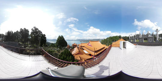 360VR video at Wenwu Temple, view from back Footage