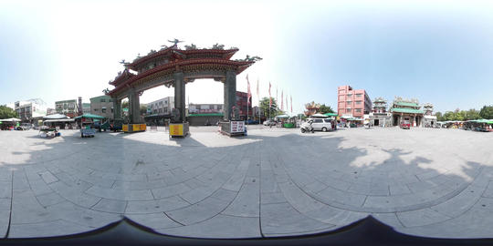 360VR video of Grand Mazu Temple Footage