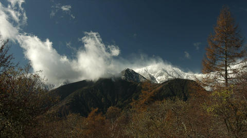 Minami Alps mountains in autumn Footage
