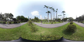 360VR video in Peace park Taipei Footage