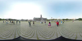 360VR video in front of Presidential Office Building Footage