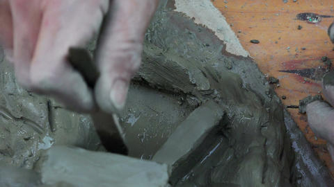 clay sculpture Footage