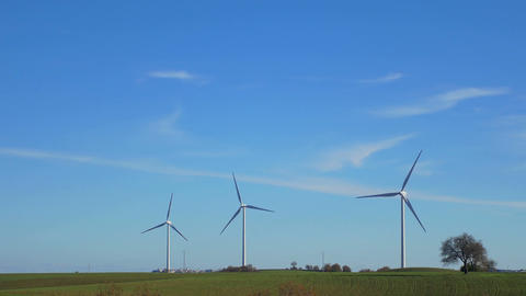 Wind Turbines, green energy, renewable energy Live Action