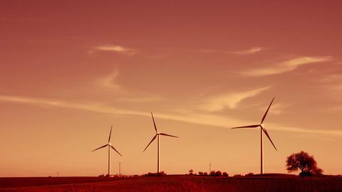 wind turbine landscape Footage
