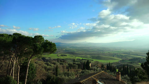 Tuscany landscape: countryside of Siena, Florence, Val d'Orcia Footage