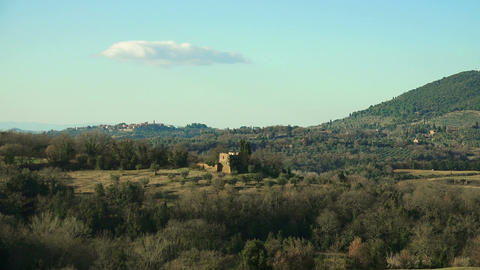 tuscany countryside landscape Footage