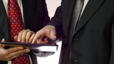 business people working with tablet computer in office Footage