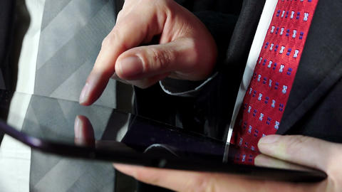 businessmen using tablet computer Footage
