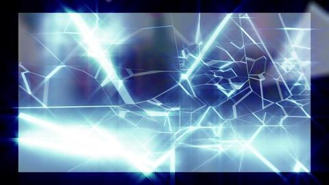 Wall glass shatter break loop animation Animation