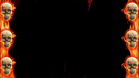 Halloween skull fire loop animation Animation