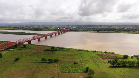 Cagayan River, largest by volume and longest river in the Philippines. Landscape Live Action