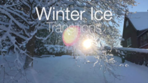 Winter Ice Ink Transitions Apple Motion Template