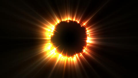 Glowing Golden Ring Light Animation