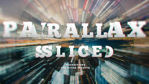 Transitions - Sliced Parallax After Effects Template
