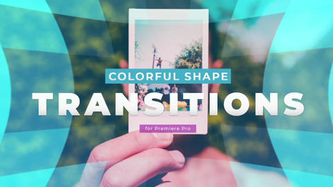 Colorful Shape Transitions Premiere Pro Template