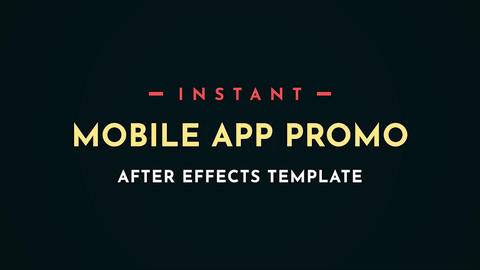 Instant App Promo Motion Graphics Video Template After Effects Template