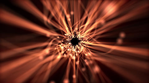 Golden Fiber Optic Light Beams Motion Background Animation