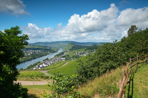 Lieser close to Bernkastel, Moselle, Germany Photo