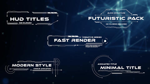 HUD Titles Motion Graphics Template