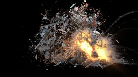 Summer House Explosion Animation