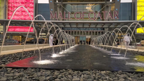 A hype lapse of Mall of Qatar ( Doha, Qatar) at sunset Live Action