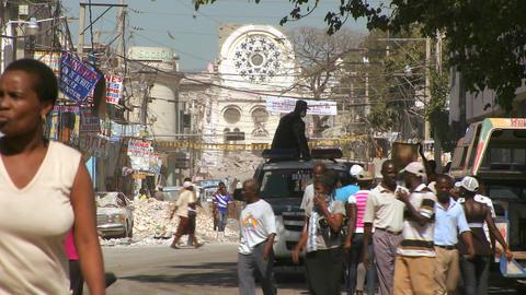 Damaged streets of Haiti following tragic earthqua Stock Video Footage