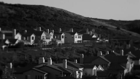 Black and white shots of upscale urban neighborhoo Stock Video Footage