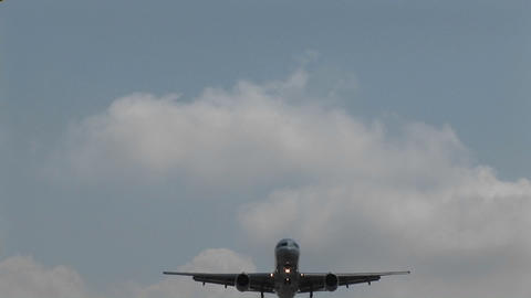 A jet airplane flying overhead Footage