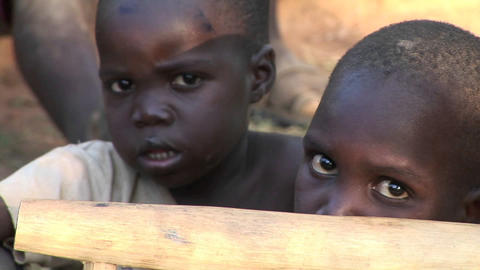Close-up shot of beautiful young children at a camp for... Stock Video Footage