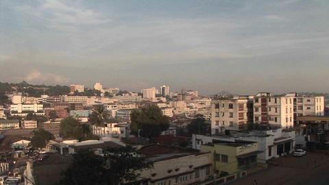 Buildings stand in the skyline of Kampala, Uganda Stock Video Footage