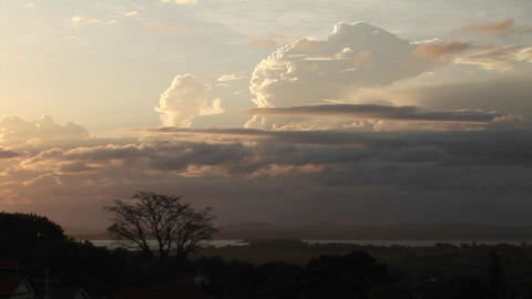 Establishing shot of a beautiful African plain at... Stock Video Footage