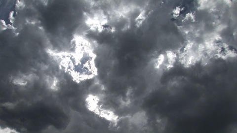 Clouds scuttle across the sky Footage