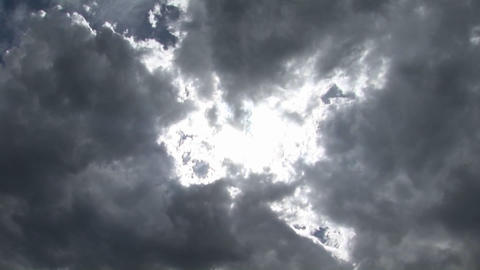 Clouds scuttle across the sky Stock Video Footage