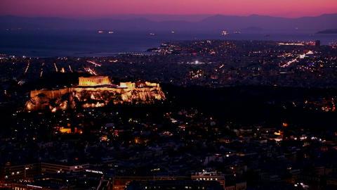 Beautiful establishing shot of Athens, Greece and Stock Video Footage