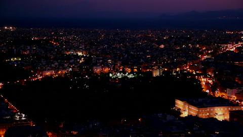 Beautiful establishing panning shot of Athens, Gre Stock Video Footage