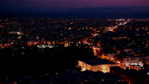 Beautiful establishing panning shot of Athens, Gre Footage