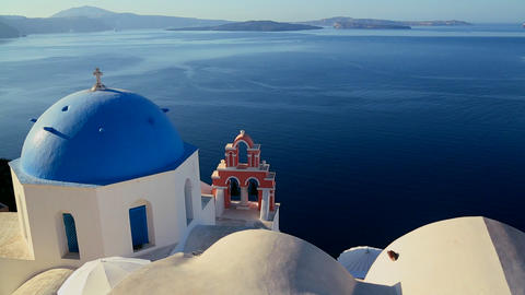 Gorgeous churches and buildings grace the island o Stock Video Footage